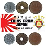 Hobby of Kings Different Coins - Old, Collectible Japanese Foreign Currency for Collecting Book - Unique, Commemorative World Money Sets - Gifts for Collectors - Collection of 3