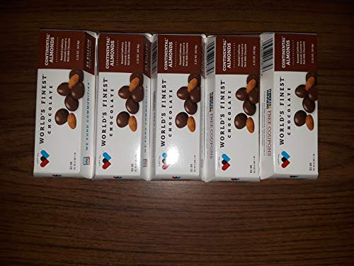 ORIGINAL and FRESH World's Finest Chocolate 5 Bar Fundraising Continental Almonds Chocolate