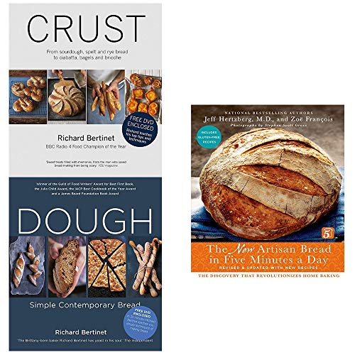 New artisan bread in five minutes a day [hardcover], dough, crust 3 books collection set