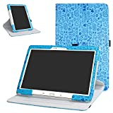 Galaxy Tab S 10.5 Rotating Case,Bige 360 Degree Rotary Stand with Cute Pattern Cover for Samsung Galaxy Tab S 10.5 Sm-t800 Sm-t801 Sm-t805 t807 Tablet,Blue