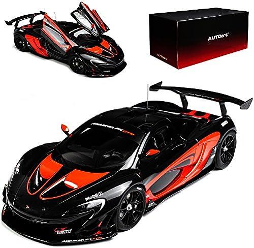 AUTOart McLaren P1 GTR Grau Orange Coupe Ab 2015 81543 1 18 Modell Auto mit individiuellem Wunschkennzeichen