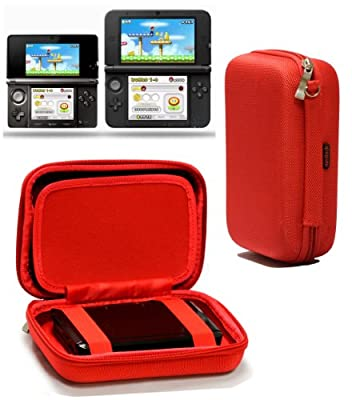 Navitech Red Premium Travel Hard Carry Case Cover Sleeve Compatible With The Nintendo 3DS XL & 3DS