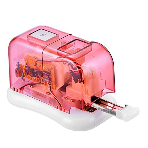 Engrapadora eléctrica portátil 105 grapadoras 15 Hojas CA o a batería Rojo...
