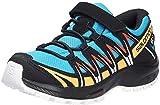 Salomon Kinder XA PRO 3D, Schuhe für Trail Running und Outdoor-Aktivitäten, ClimaSalomon Waterproof, Einfaches Schnürsystem Blau/Schwarz (Hawaiian Ocean/Cherry Tomato/Warm Apricot), 30 EU