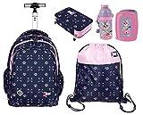ST.Right Gato Cats - Juego de mochila escolar + estuche con cremallera + bolsa de deporte + caja de desayuno para niña y mujer