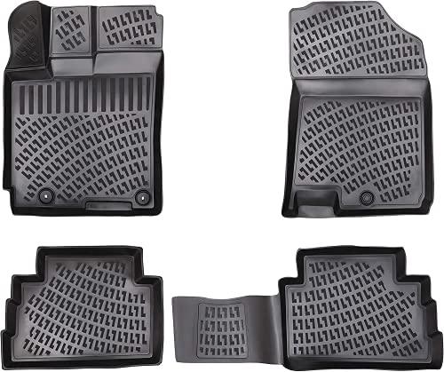 Lot de tapis en caoutchouc design 3D pour Renault CAPTUR à partir de 2020   Bord extra haut de 5 cm