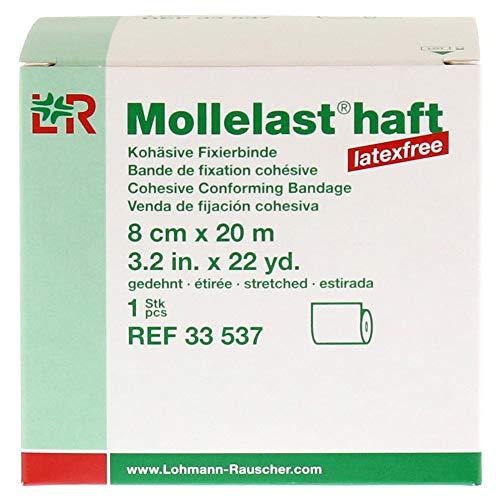 Mollelast Haft Binden Latexfrei 8 cmx20 m Weiß, 1 St