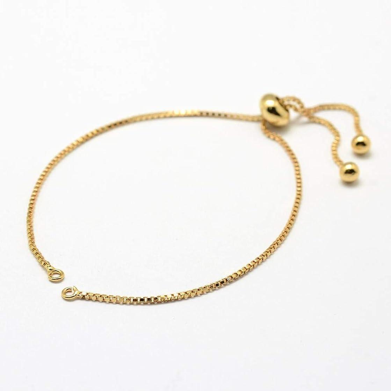 DanLingJewelry Adjustable Slider Bracelet Slider Extender Chains with Ball Ends for Women Girls Semi Finished DIY 5