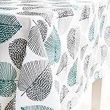 Dreaming Casa - Mantel impermeable para mesa rectangular, antimanchas, diseño geométrico, para mesa de comedor, picnic y fiesta, mantel rectangular, hoja, 100X140cm