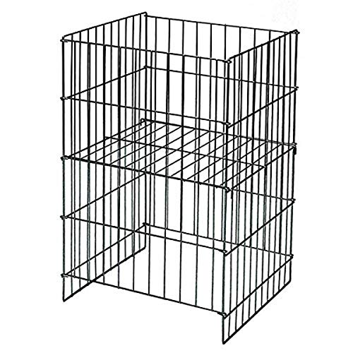 KC Store Fixtures 54107 Wire Dump Basket with Adjustable Shelf, 30