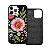 Case Compatible with iPhone 12 Case 6.1 Inches Embroidered Wildflowers Floral...