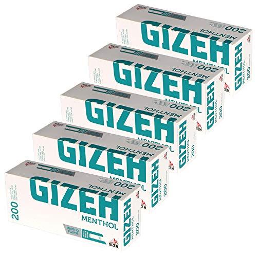 Gizeh Cartuchos de filtro, punta de mentol, 5x 200Unidades