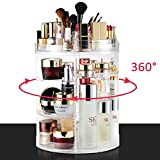 LIVEHITOP Organisateur de Maquillage 360 Degré Rotation, Acrylique Cosmétique...