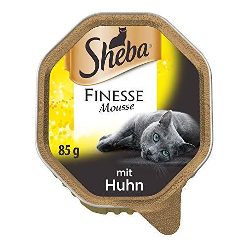 Sheba Finesse Mousse, Cremiges Katzenfutter in köstlichen Geschmacksrichtungen