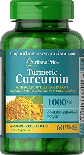 Puritan's Pride Turmeric Curcumin 1000 Mg W/Bioperine Capsules, 60...