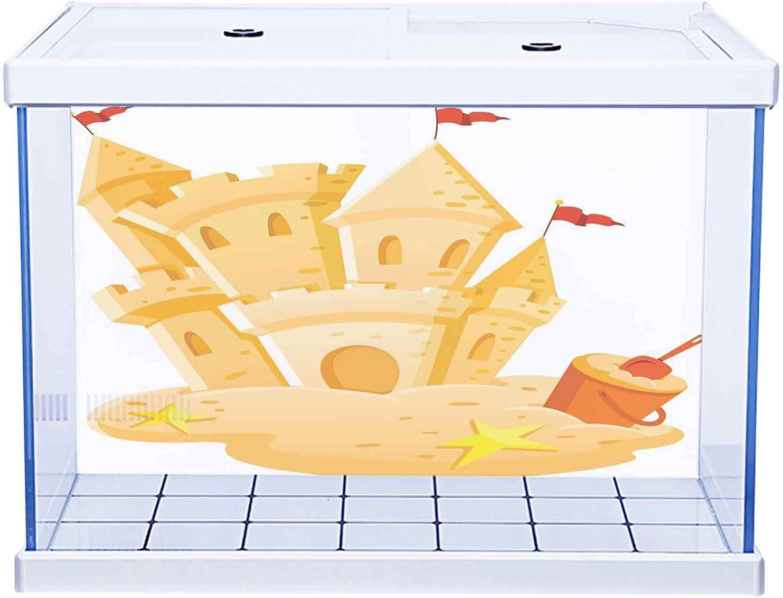 Aquarium Sticker 3D One price Side Fish Tank Princes Kids Castle with Regular dealer