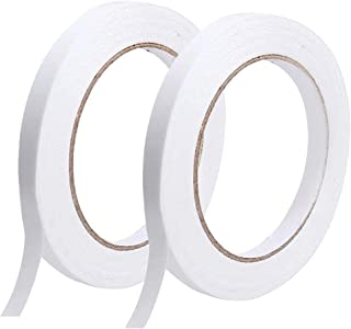 Double Sided Tape, 2 Rolls Strong Adhesive Office Sewing DIY Craft Tapes, 50 Meters Each Roll (Width: About 10mm)