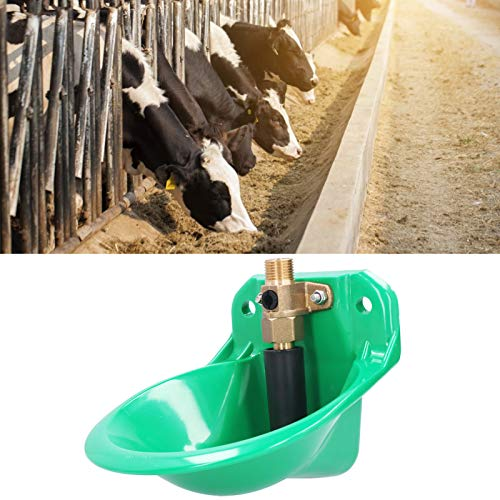 FECAMOS Cattle Water Drinking Bowl, Copper Valve Cattle Drinking Tool 8.7 X 7.1 X 5.5in Pig Water Drinking Bowl for Calf Sheep, Pig and So on