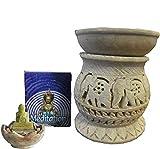 Set aromático oriental con lámpara aromática gotas, aceite aromático canela,...