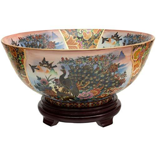 ORIENTAL Furniture Porcelain Planter, Multicolor