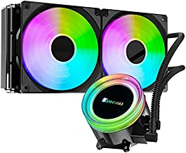 Ultimate Liquid CPU Cooler - Jonsbo TW2-240 2 X 120mm Fan with PWM Speed Adjustable, Intel & AMD AM4 Platforms