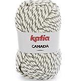 Lanas Katia Canada Ovillo de Color Plata Cod. 103