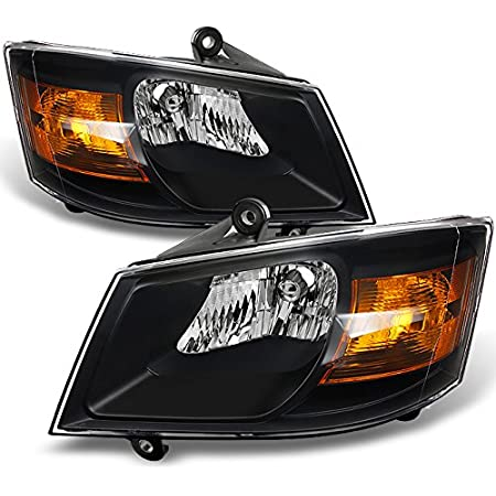 dodge grand caravan headlights AKKON - For Dodge Grand Caravan Black Headlights Head Lamps Driver and  Passenger Side Replacement Pair