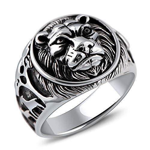 anillos Hombre, Anillo De Plata Esterlina 925, Anillo gótico para Hombre Anillo de Anillo león para Hombre, Anillo de hombre Lion Domineering, Regalo de Cumpleaños de Navidad