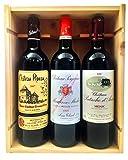 Coffret Bordeaux Vieux Millésimes - 1 Cru Bourgeois de Moulis 1999 + 1 Saint Emilion Grand Cru 2007 + 1 Cru Bourgeois du Médoc 2000 !