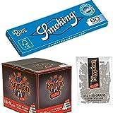 50 Libritos papel de liar Smoking Blue 70 x 37mm OFERTA 60+5 papeles/librito + 4000 filtros Krypton 6mm …