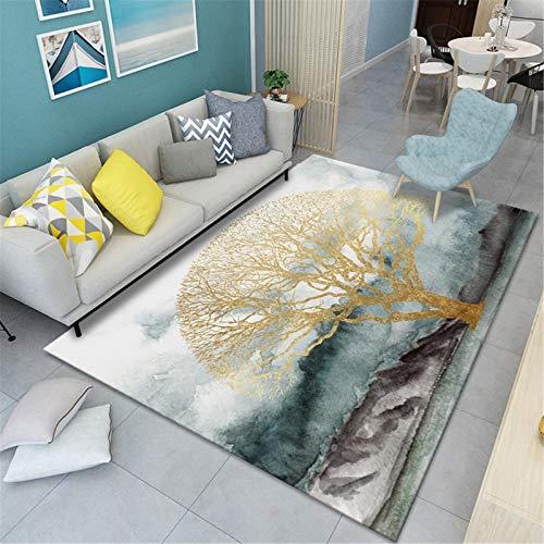 Alfombra Minimalista Abstracta Moderna para Sala De Estar Pequeña Y Fresca Dormitorio Junto A La Cama Manta Felpudo 160x200cm