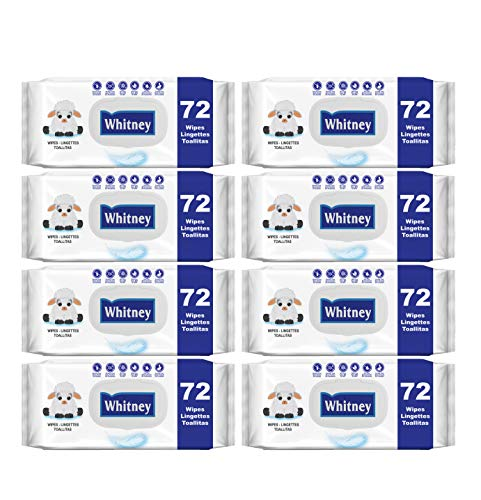 Whitney Scented Baby Wipes, 8 Flip-Top Packs (576 Wipes Total)