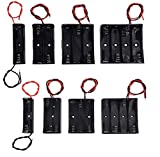 (Pack of 8)AA and AAA Battery Holders: 1Pc 1 AA Holder, 1Pc 2 AA Battery Holder, 1Pc 3 AA Holder, 1Pc 4 AA Battery Holder, 1Pc 1AAA Holder, 1Pc 2 AAA Battery Holder, 1Pc 3 AAA Holder, 1Pc 4 AAA Holder