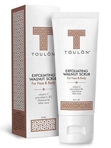 Exfoliating Face Scrub - Exfoliate Scrub - Face and Body; Walnut Facial Exfoliator. Great...