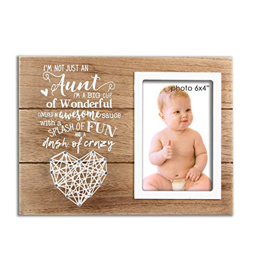 VILIGHT Aunt Gifts Auntie Picture Frame - Funny Present for Aunty from Niece and Nephew - 4x6 Inches Photo