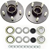 2-Pack Trailer Wheel Hub Complete Kit Steel 5 Lug on 4.5 in. BT-8 2000 Lb. 1 in....