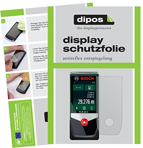 dipos I 3X Protector de Pantalla Mate Compatible con Bosch PLR 50 C pelicula Protectora