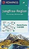 KOMPASS Wanderkarte Jungfrau-Region, Thunersee, Brienzersee: Wanderkarte GPS-genau. 1:50000 (KOMPASS-Wanderkarten, Band 84)