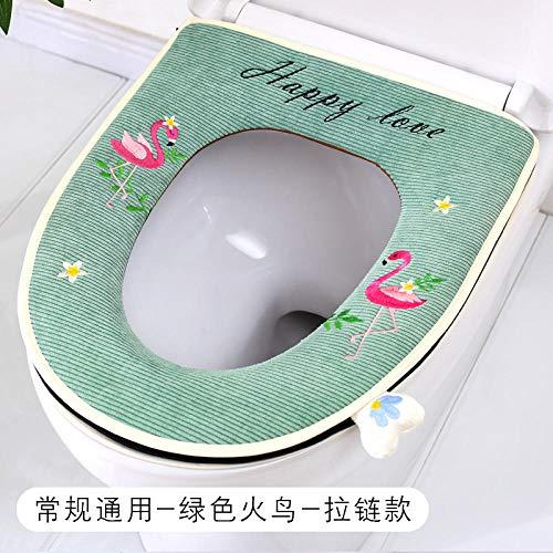 Fslt universele wc-zitwasinstallatie wc-bril ritssluiting wc-zitkussen -A1-groen