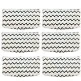 FirstDecor 6 Packs Dirt Grip Microfiber Pads Replacement for Shark Steam Mop S1000 S1000A S1000C S1000WM S1001C Vacuum Cleaners
