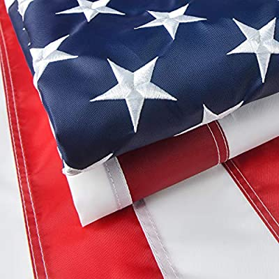 VORENUS American Flag 3x5 Outdoor, Heavy Duty American Flag, US Flag with Vivid Color/Sewn Stripes/Brass Grommets/Embroidered Stars(3x5 FT)