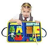 Tablero sensorial Educativo Esencial de Juguete Montessori, Tablero Ocupado para...