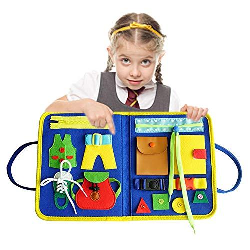 Para niños pequeños Montessori habilidades motoras básicas de la Junta de Actividad de Aprendizaje Vestido ABC Temprano Educativo Y Sensorial Juguetes Para Niños de 1, 2, 3 y 4 Años