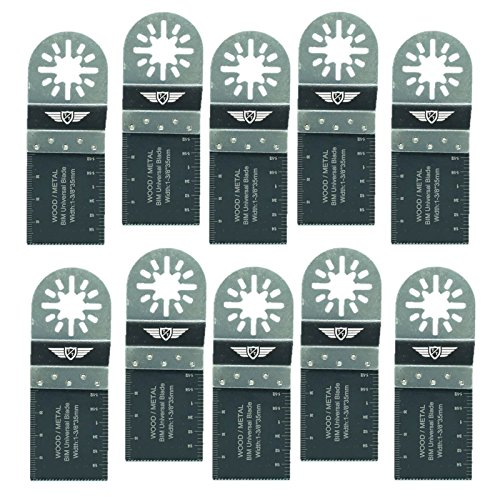 10 x 35 mm TopsTools UN35B_10 Metall schneiden Klingen für Bosch Fein (Nicht-StarLock) Makita Milwaukee Einhell Hitachi Parkside Ryobi Worx Workzone Multitool Zubehör