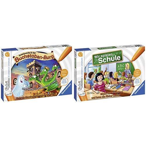 Ravensburger 00737 - Tiptoi Spiel Schatzsuche in der Buchstabenburg &  tiptoi Wir spielen Schule - 00733 / Erlebe interaktiv einen kompletten Schultag