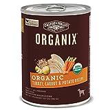 Castor & Pollux Organix Organic Turkey, Carrot & Potato Recipe Adult Canned Dog Food, (12) 12..7oz cans