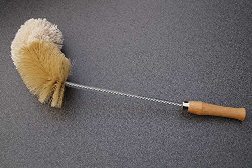 Dekanterbürste, Reinigungsbürste Bürste für Karaffe und Dekanter 41 cm