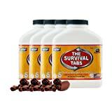 Survival Tabs - 60 day Survival Food Supply - Gluten Free and Non-GMO 25 Years Shelf Life (4 x 180 tabs/Bottle - Chocolate)