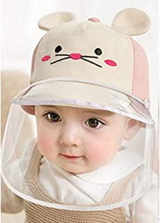 """Two Style Design Baby Mouse Kids Anti Droplets Sun Protection Full Face Hat Removable Windproof Dustproof Protective Cap for Outdoor (18.9""""~19.7"""" (fit 1 to 2 Years Old), Pink)"""