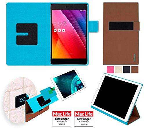 reboon Hülle für Asus ZenPad S 8.0 (Z580C) Tasche Cover Case Bumper | in Braun | Testsieger